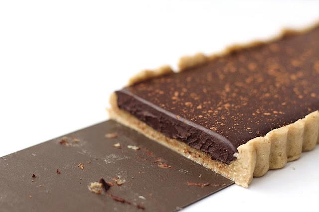 Healthy Dark Chocolate Peppermint Tart - Desserts with Benefits