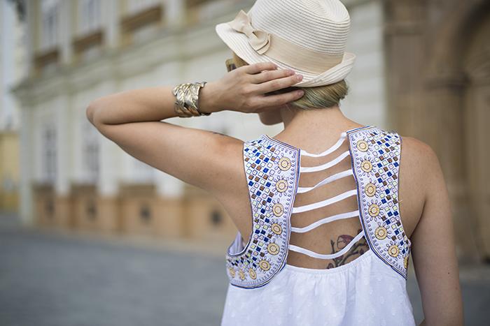 Skinny  Buddha Shein white dress