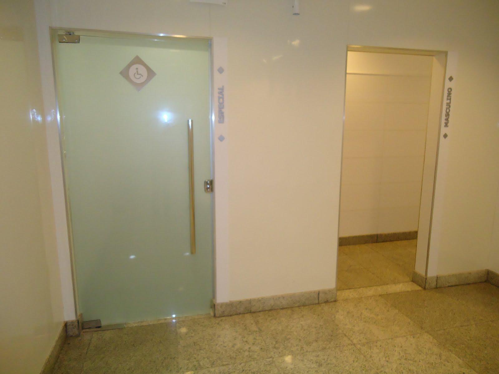 Sanitário Familiar do Shopping Campo Grande Acessibilidade na  #614C1E 1600 1200