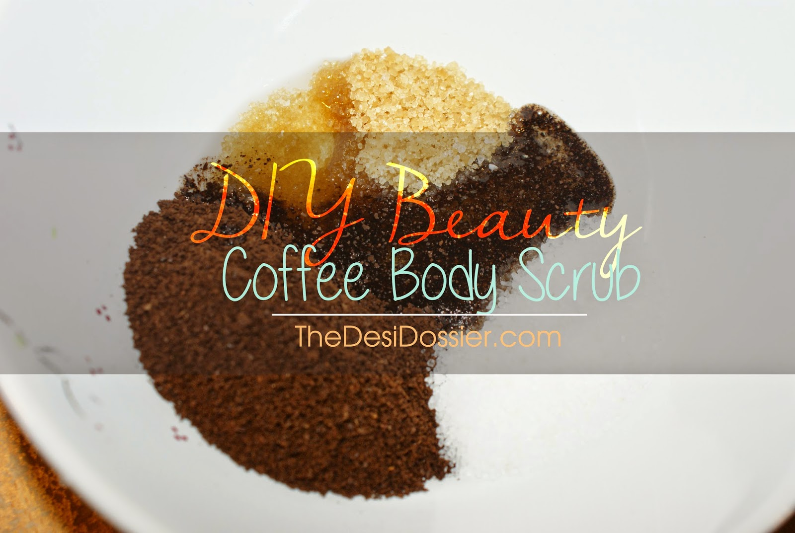 DIY Frank's coffee scrub