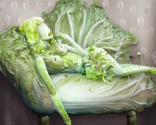 Food art with chinese cabbage by Ju Duoqi