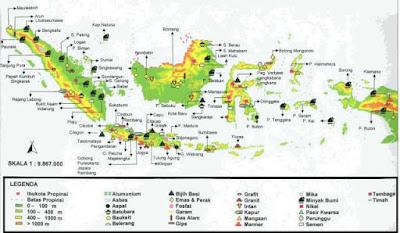 Peta Persebaran Barang Tambang di Indonesia