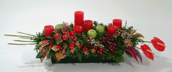 Todo para eventos arreglos florales y frutales - Como hacer un centro de mesa navideno ...