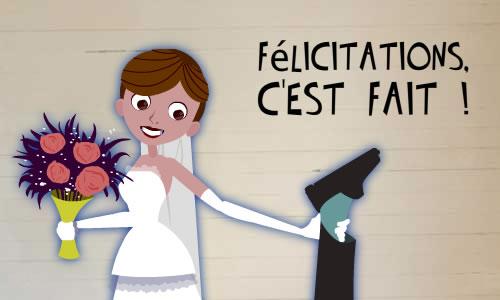 Mariage heureux  Image drôle  Société