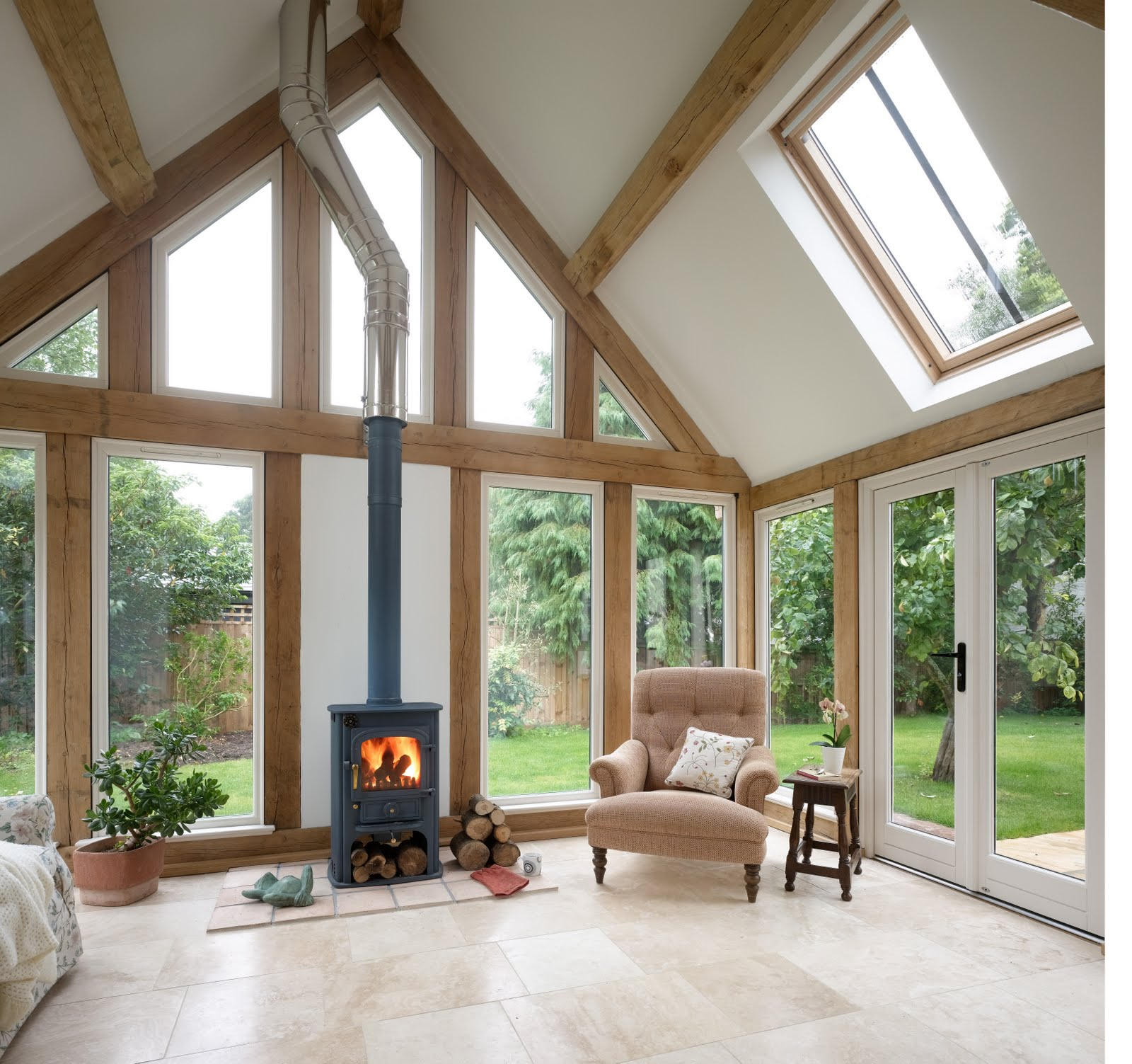 With Glass On Three Sides And Huge Roof Lights You Can Imagine How Bright  This Space Is   Which Must Be Amazing In Combination With The Vaulted  Ceiling And ...