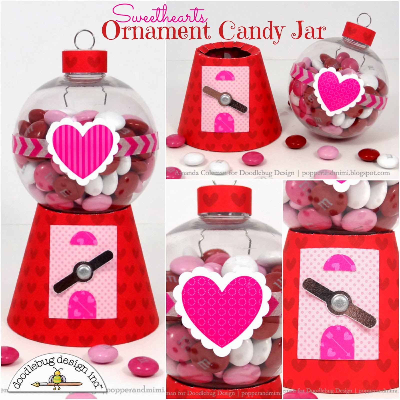Doodlebug Design Inc Blog: Sweet Ornament Candy Jar by Amanda