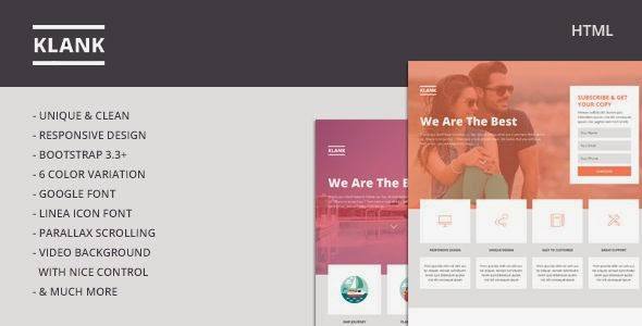Klank - Multipurpose Landing Page With Bootstrap