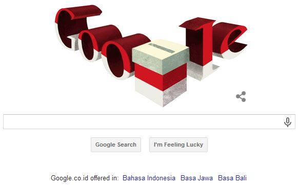 Google Doodle Pemilu Presiden 2014
