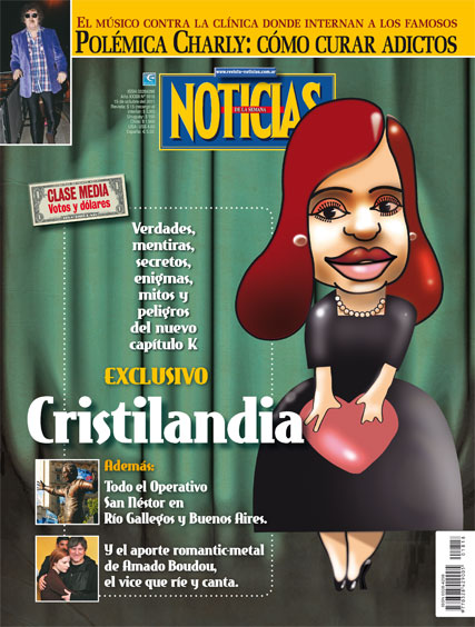 Tapa Revista Noticias: Cristilandia
