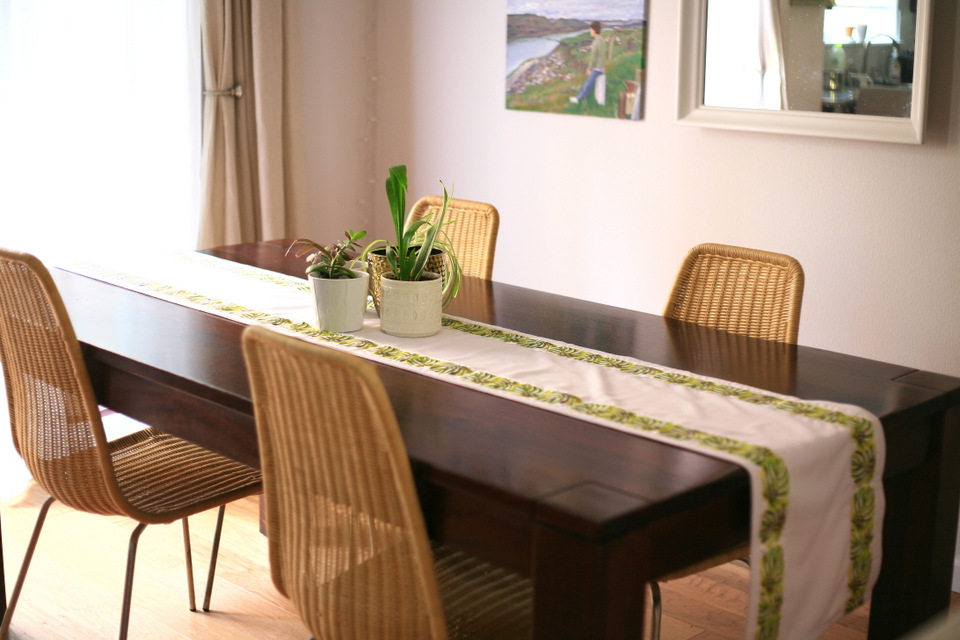 Here It Is In My Dining Room Making The Table Look Less Lonely When Its Not Use
