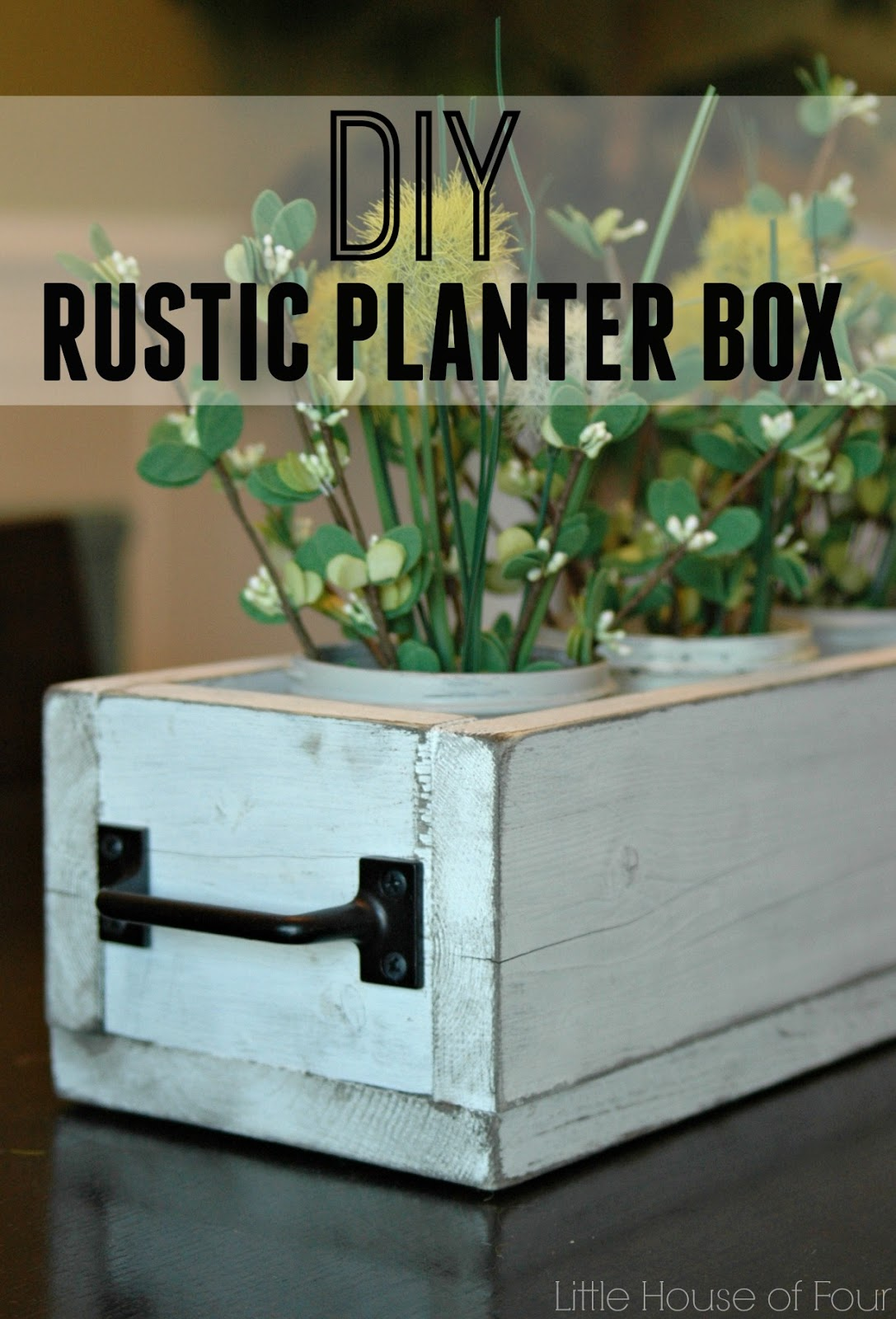 Rustic Dining Table Planter Box Little House Of Four