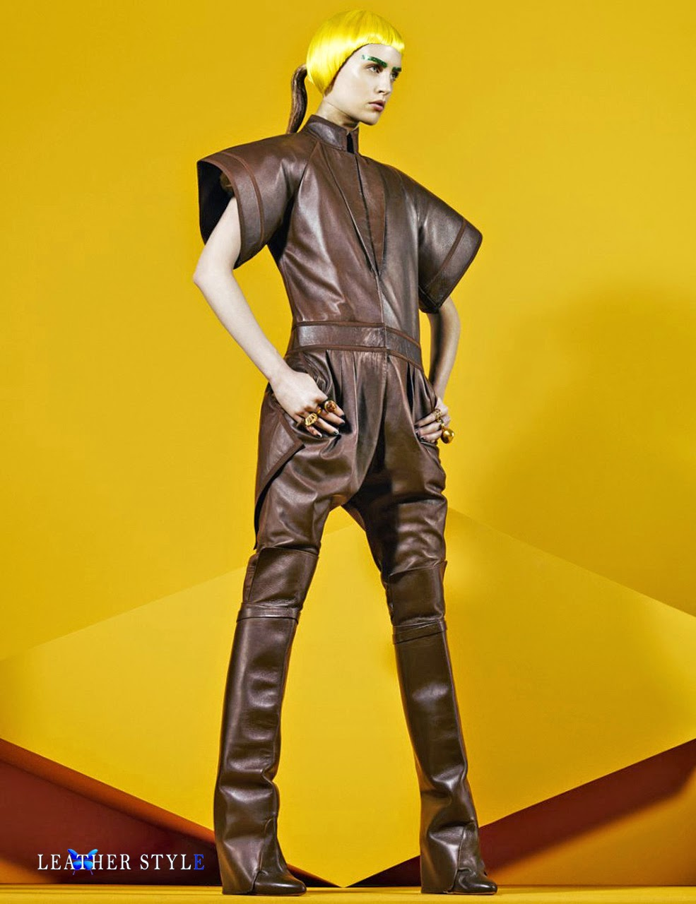 Leather Style Latex Couture Vinyl Fashion Designers