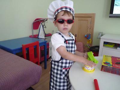delantal gorro cocinero niños niñas