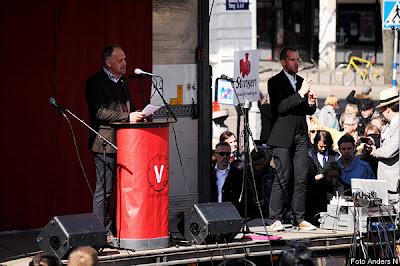 1 maj, Göteborg, första maj, demonstration, arrangemang, tal, talare, demonstrationståg, vänsterpartiet, Jonas Sjöstedt, gustav, gustaf adolfs torg