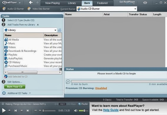 vlc player to real player converter