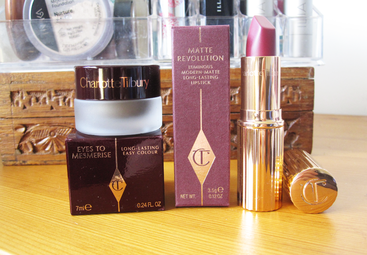 Charlotte Tilbury Matte Revolution Lipstick in Love Liberty and Eyes To Mesmerise in Veruschka