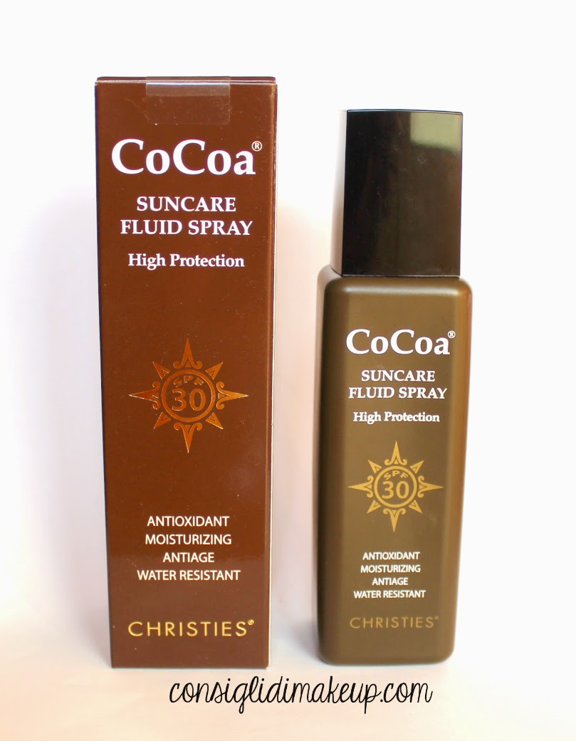 Review: CoCoa Suncare Fluid Spray SPF 30 - Chrissie