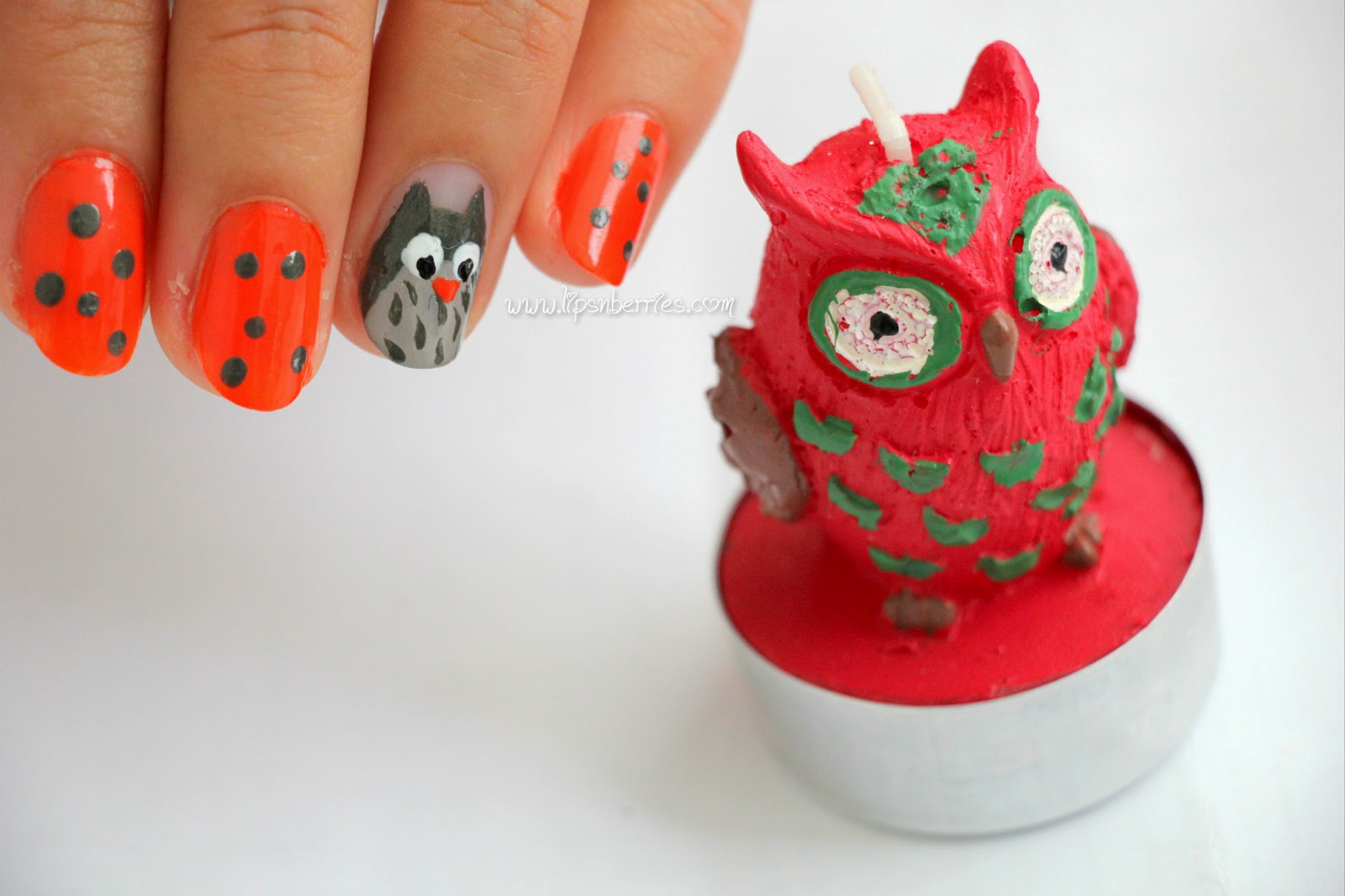 Owl Nail Art Featuring Revlon Parfumerie In Italian Leather