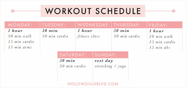 FREE PRINTABLES - CLEANING & WORKOUT SCHEDULES | hollywouldblvd.com