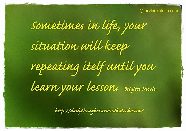 Learn, Lesson, situation, Daily Quote,
