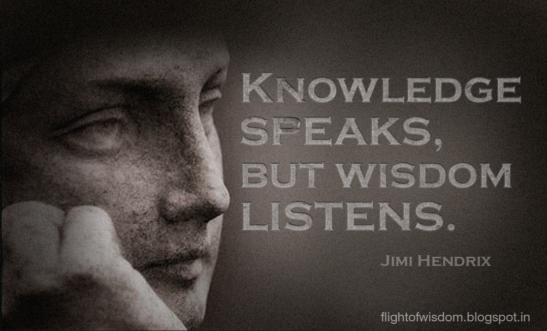 is knowledge more important than wisdom