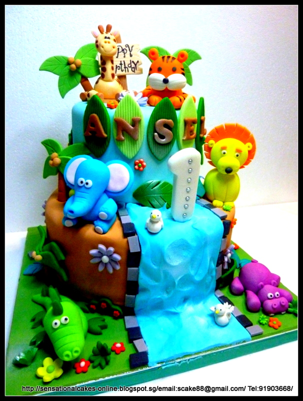 The Sensational Cakes Safari Theme cake Jungle theme cake