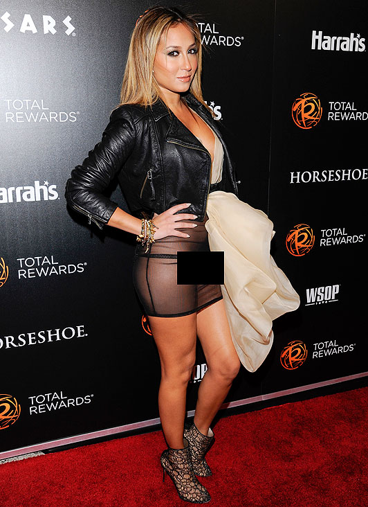 flashes Adrienne bailon