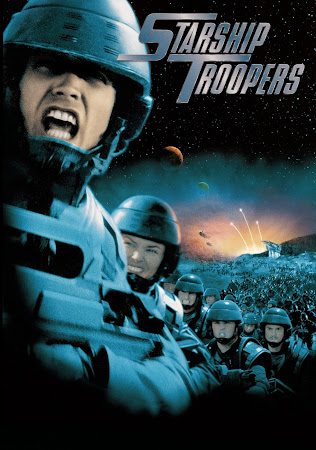Poster Of Starship Troopers 1997 In Hindi Dual Audio Bluray 720P Free Download