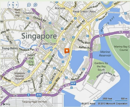 Detail Dalhousie Obelisk Singapore Location Map – Tourist Map Of Singapore City