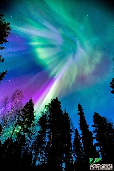 Badai Matahari Menghasilkan Aurora di Swedia