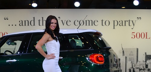 Megan Agrusa with the Fiat 500L Trekking