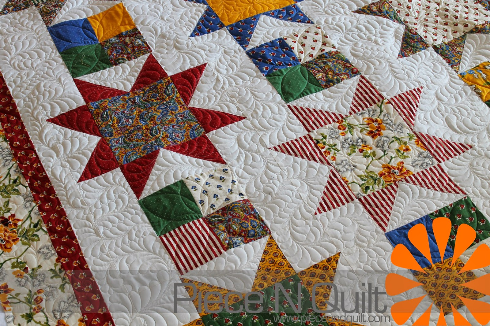 Piece N Quilt: Sawtooth Star Quilt