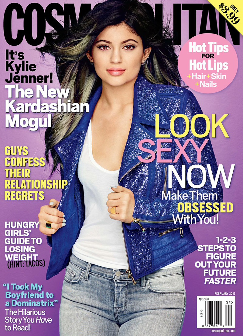 Kylie Jenner features as the cover star of Cosmopolitan February 2015