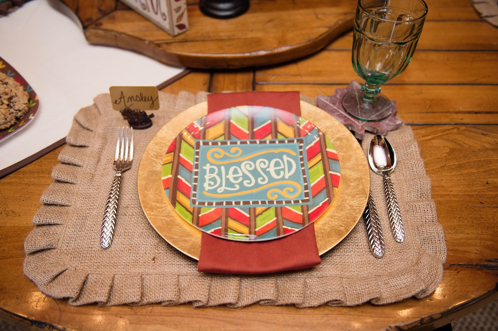 Burlap Placemat & Haus Chat