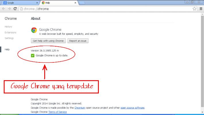 cara melakukan Update pada peramban web google chrome-4