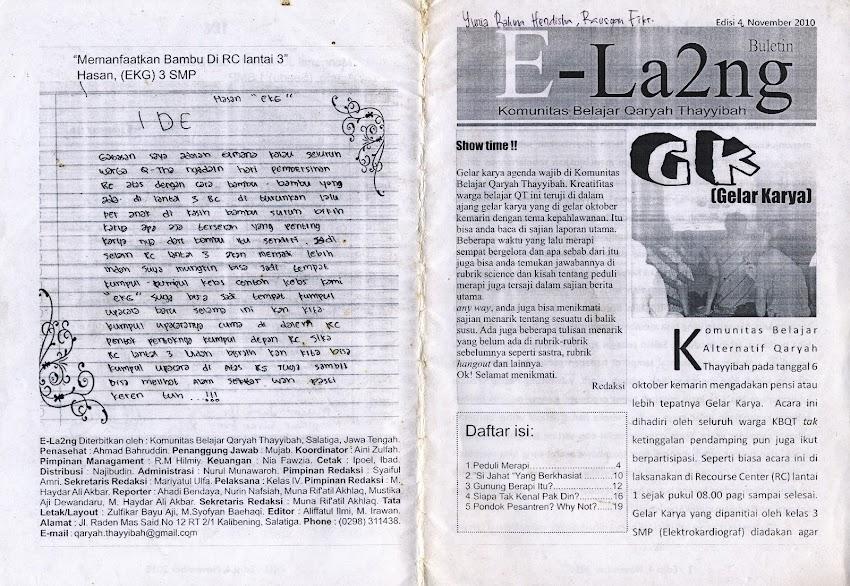 Buletin E-la2ng edisi 11 November 2010