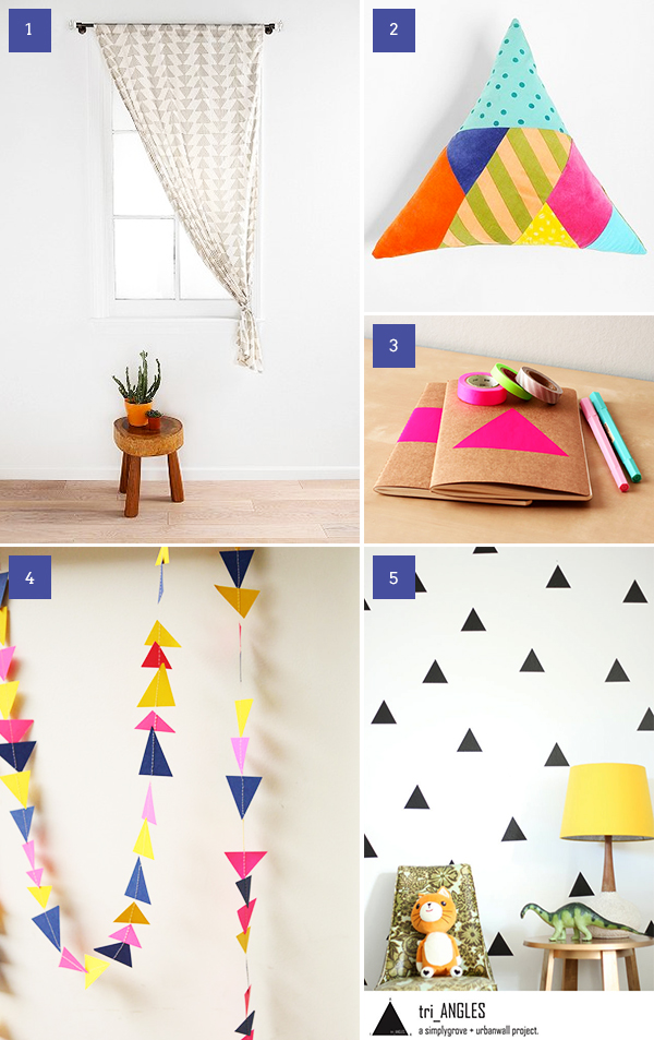 top five triangle decor pieces