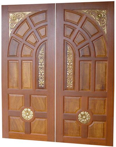 New kerala model Wooden Front Door- Double Door- Designs - Wood Design ...