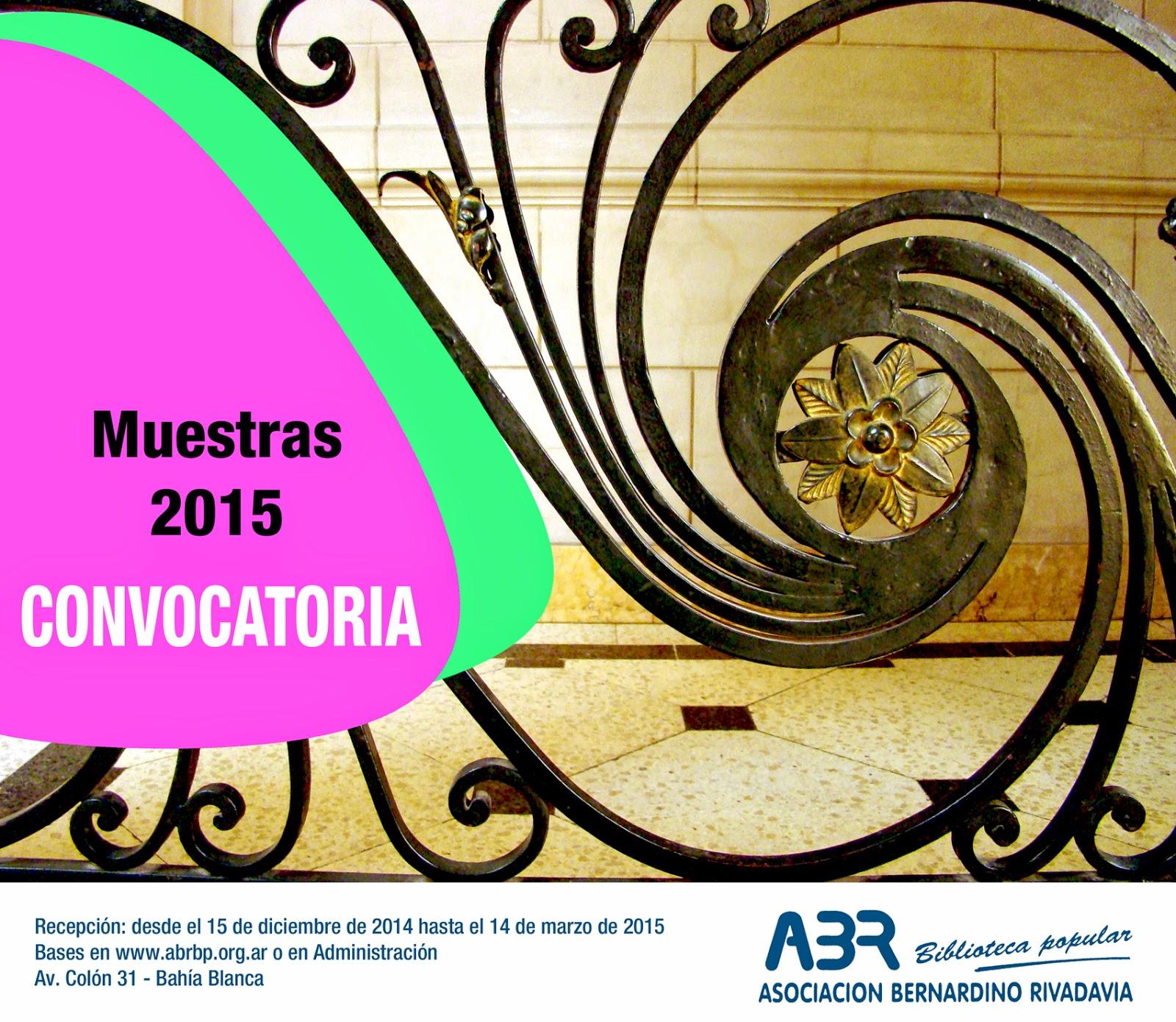 Convocatoria a Muestras ABR 2015