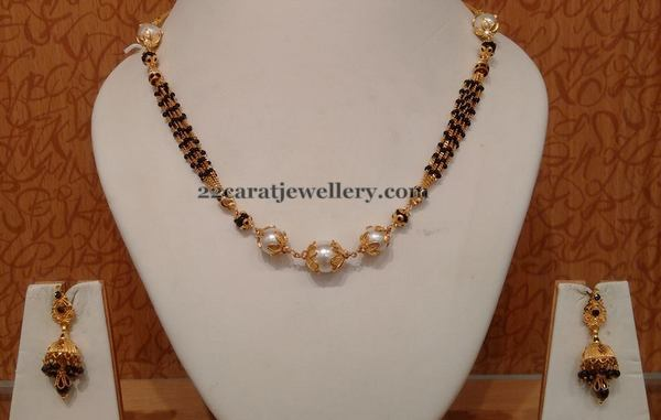 South Sea Pearls Black Beads Set