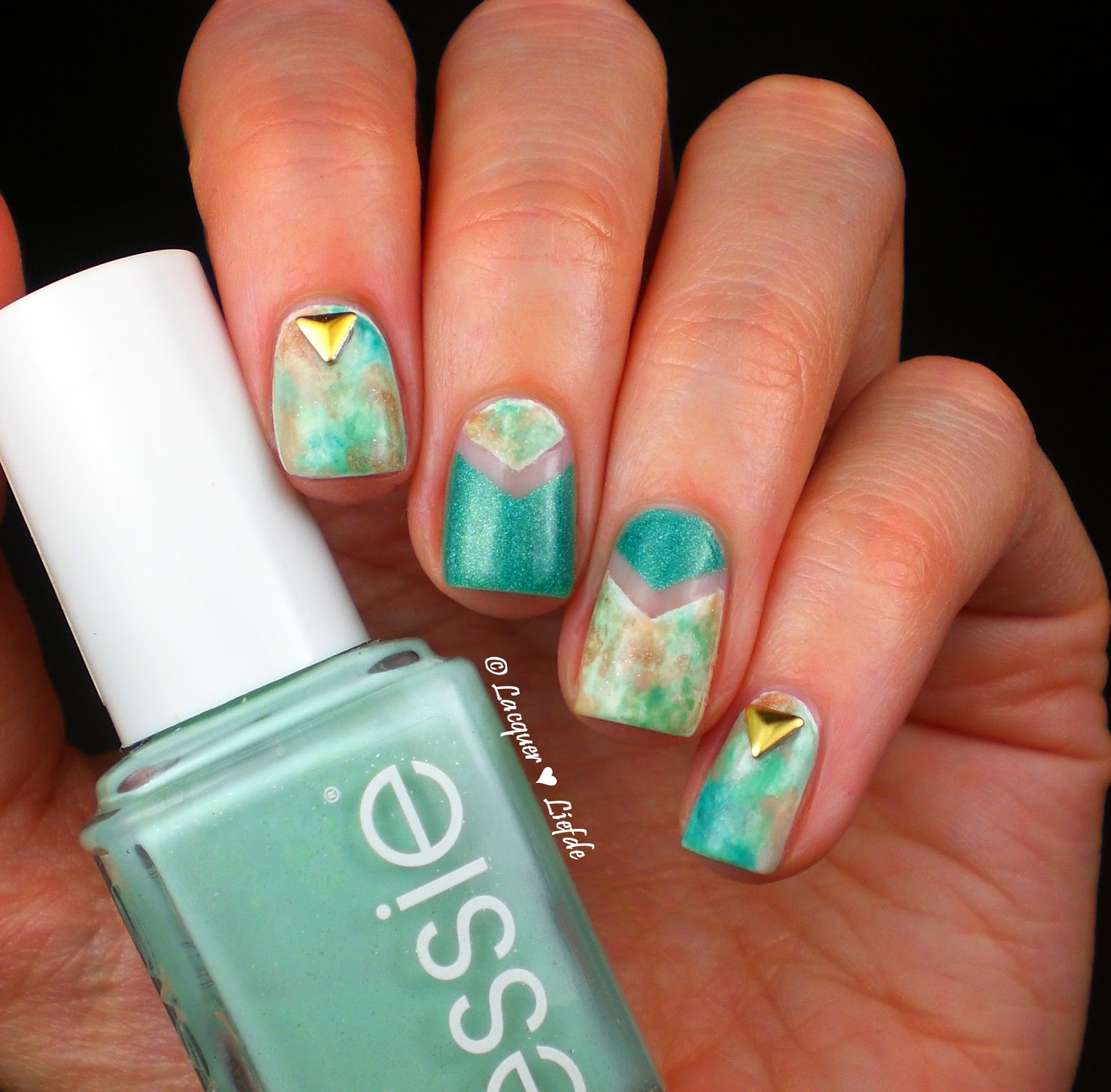 Essie Watercolor Design Nails