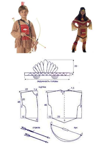 Самый простой костюм индейца своими руками