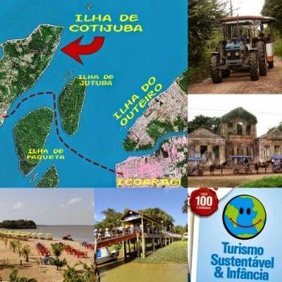 Ilha de Cotijuba no Pará