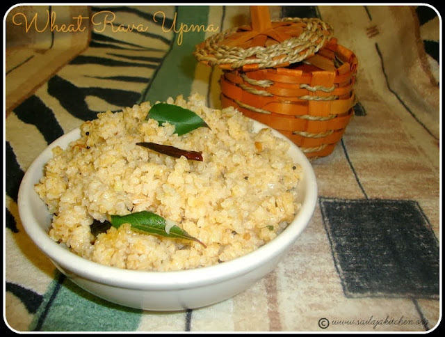 Wheat Rava Upma Recipe /Godhumai Rava Upma Recipe / Cracked Wheat Upma Recipe / Broken Wheat Upma Recipe