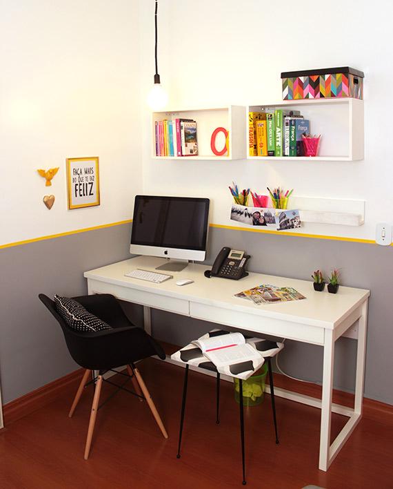 Decoração de escritório com pouca grana