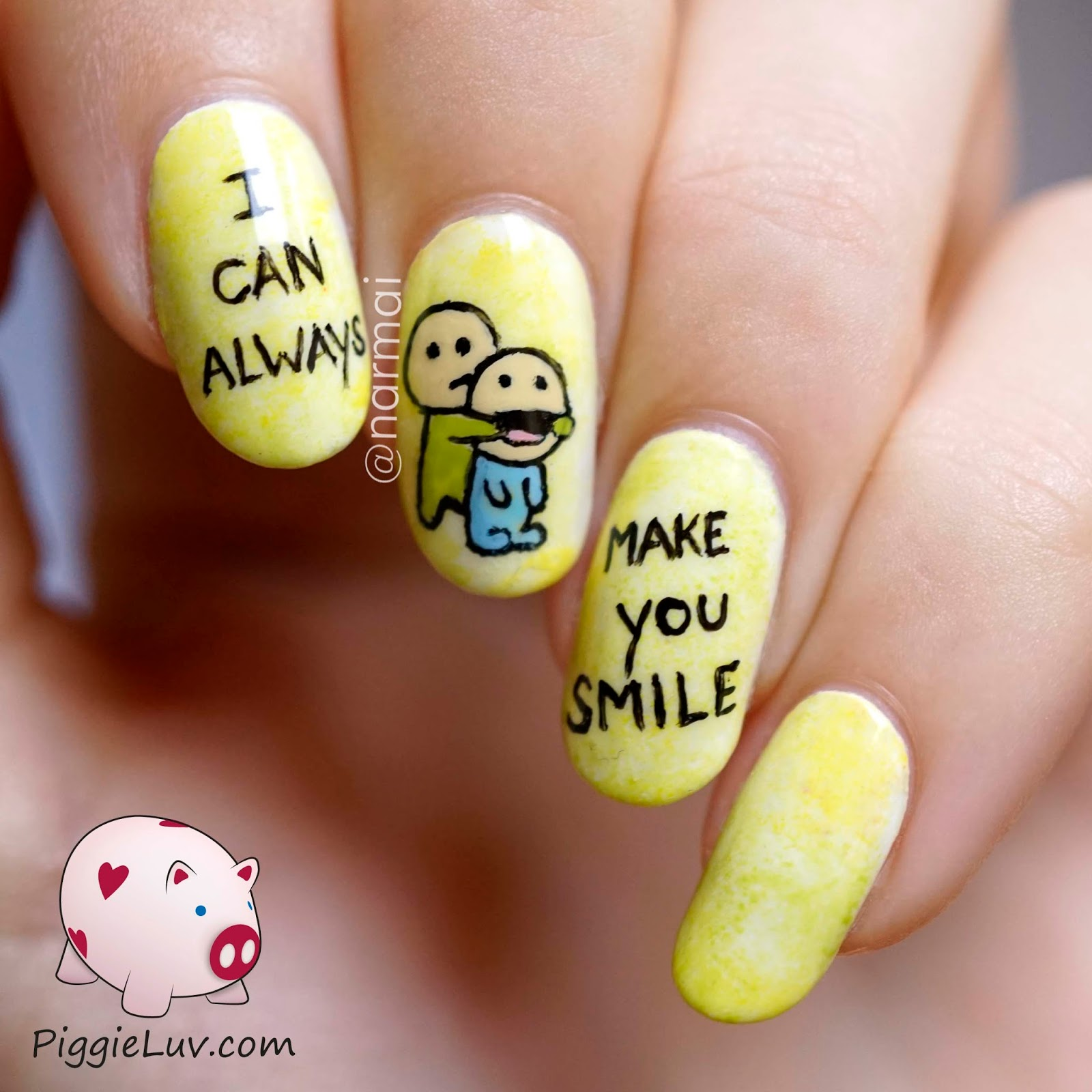 PiggieLuv: I can always make you smile! Happy nail art