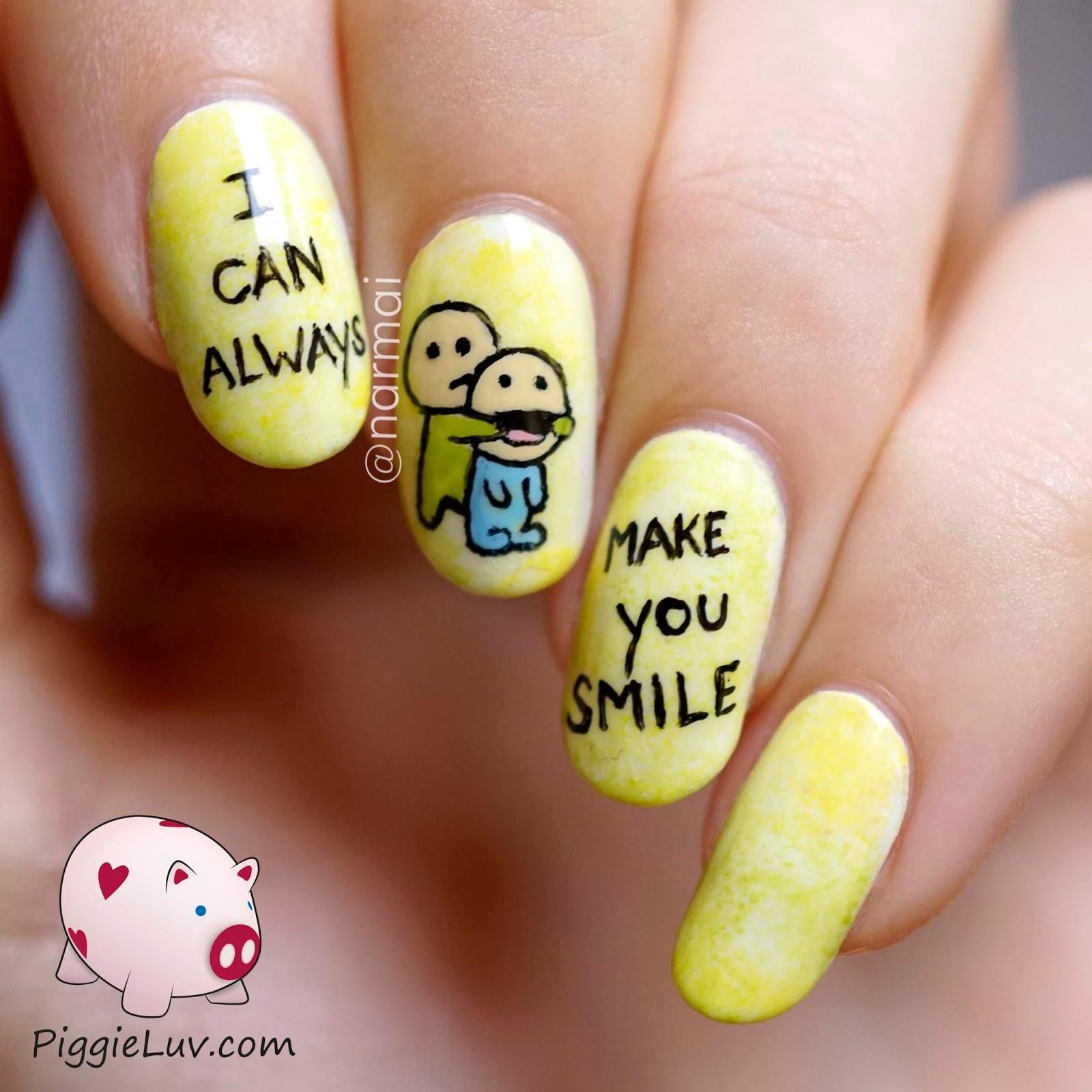 DIY Happy Smiles Nail Art