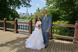 Bride and Groom on Oak Bridge, Central Park