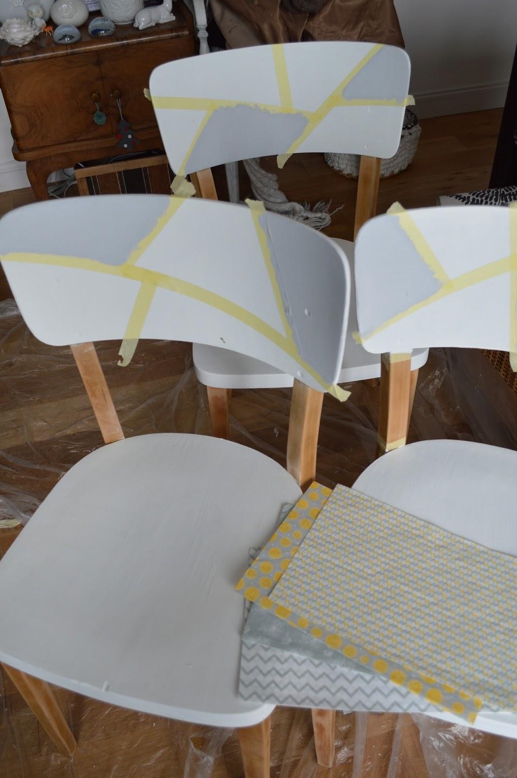 Un relooking extr me d 39 anciennes chaises en bois lily 39 s - Relooker chaise en bois ...