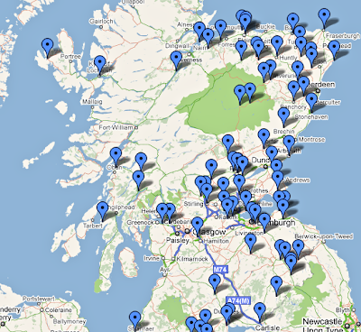 The Nighs, To Scotland and Back Again: Nighs' Scotland Map on